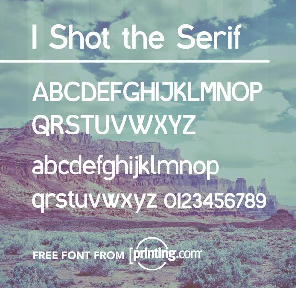 Police I Shot the Serif de printing.com