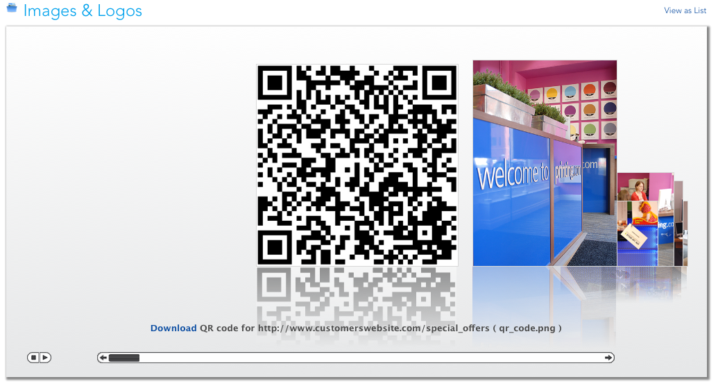 QR code in Files & Images