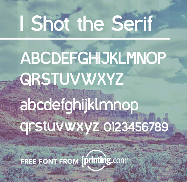 I Shot the Serif font from printing.com