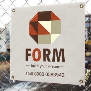 Corflute Construction site sign