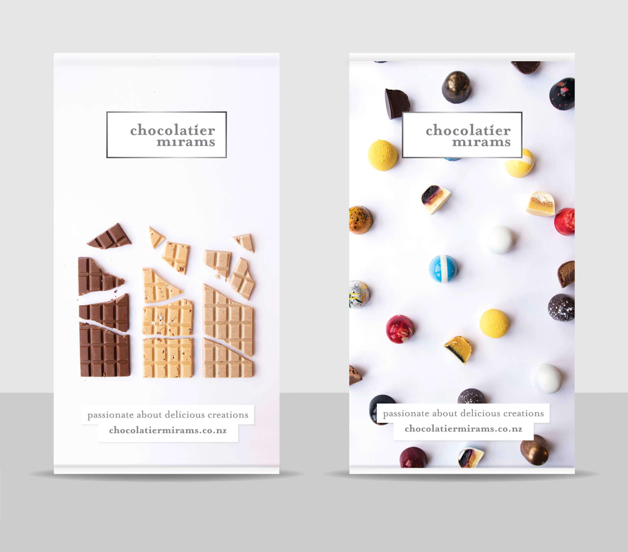 Chocolatier Mirams Banners