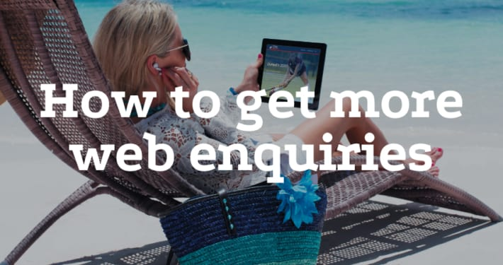 How to get more web enquiries